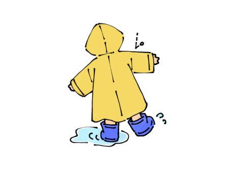 レインコートを着た子